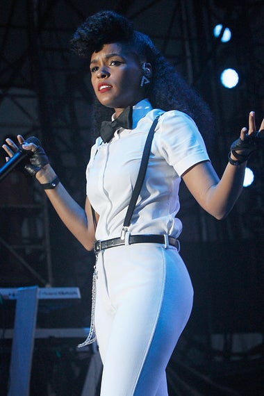 anelle Monae performs onstage at 11th Annual Jazz In The Gardens Music Festival - Day 2 at Sunlife Stadium on March 20, 2016 in Miami, Florida.