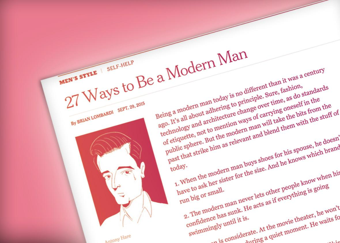 how to be a modern man.