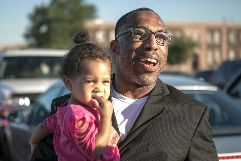Anthony Wright and his granddaughter.