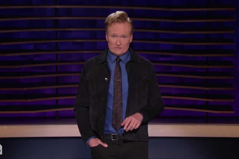 Conan O'Brien Doesn't Want to Talk About What Happened at the Lake House