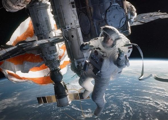Sandra Bullock in Gravity.