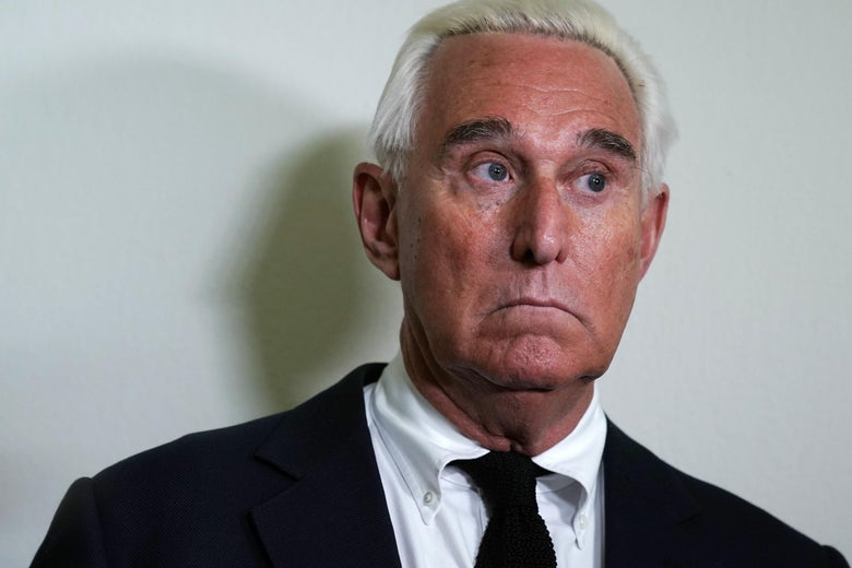 Roger Stone outside congressional hearing