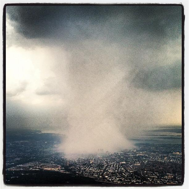 Dhani Jones' Instagram photo of Wednesday's New York City storm.