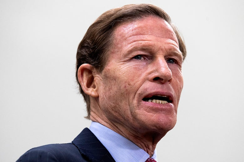 Connecticut Sen. Richard Blumenthal speaks during a news conference on Dec. 6.