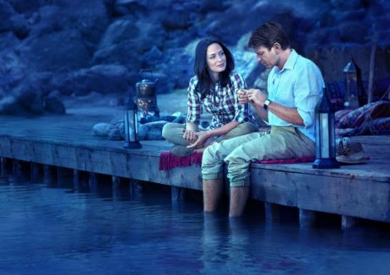 Ewan McGregor and Emily Blunt in Salmon Fishing in the Yemen.