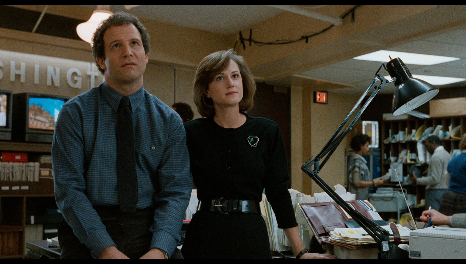 Albert Brooks and Holly Hunter in Broadcast News.
