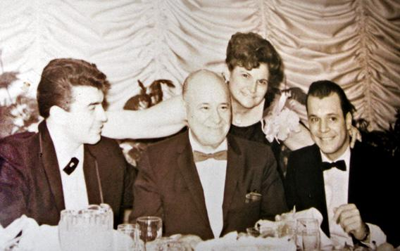 Leah and Charles Vallone with their sons, Buddy (far left) and Peter, right, circa 1960s.
