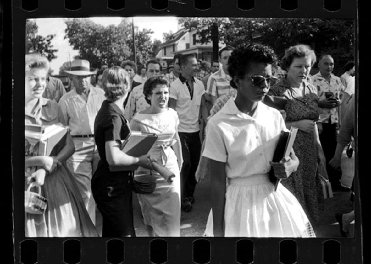 Hazel Bryan and Elizabeth Eckford, Little Rock, Ark., September 1957.