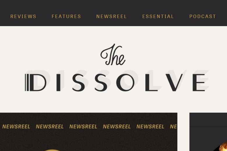 Screenshot of the Dissolve's homepage.