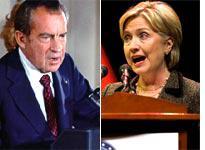Richard Nixon and Hillary Clinton. Click image to expand.