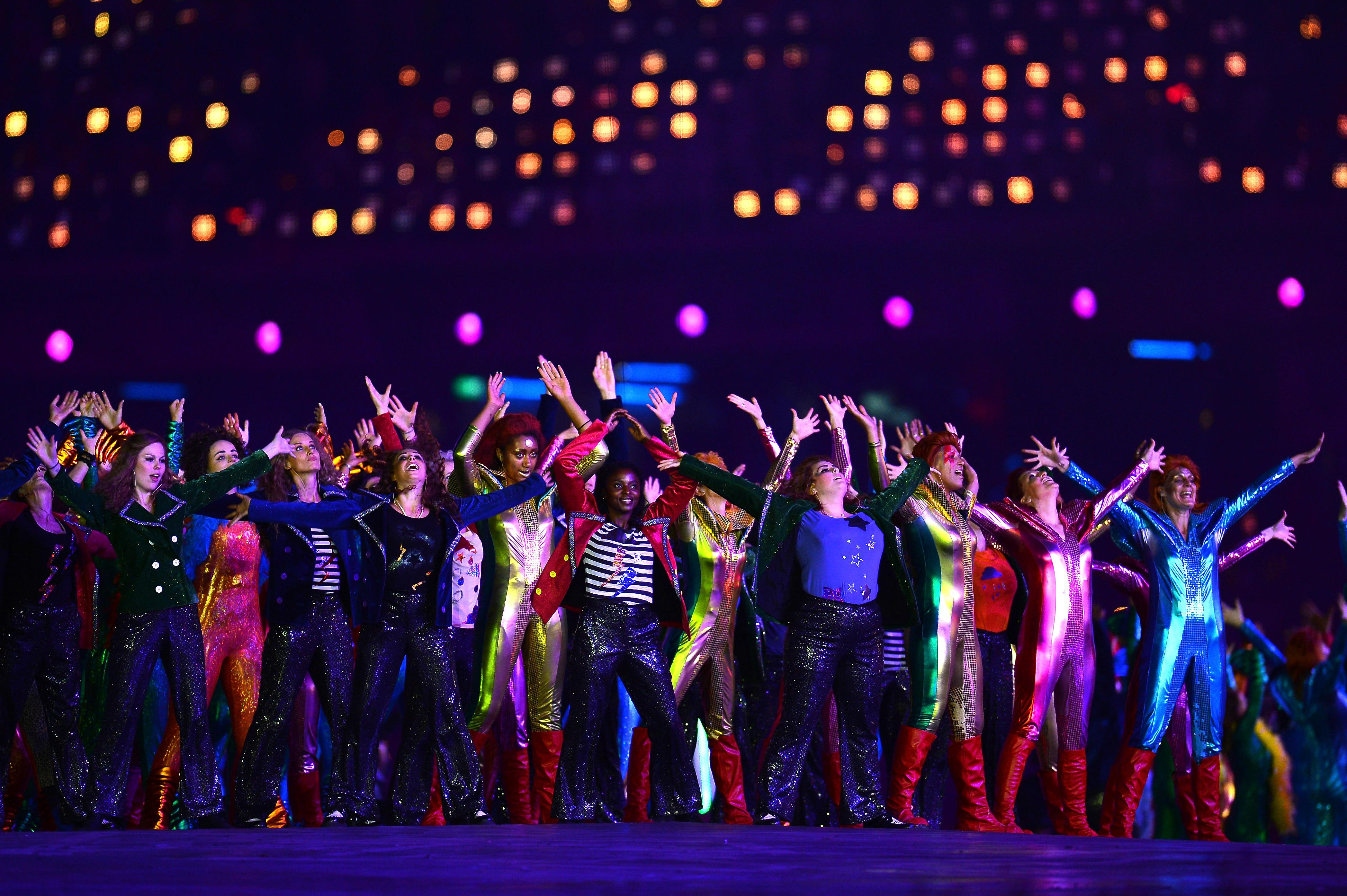 Dancing at the opening ceremony