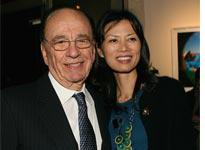 Rupert and Wendi Murdoch. Click image to expand.