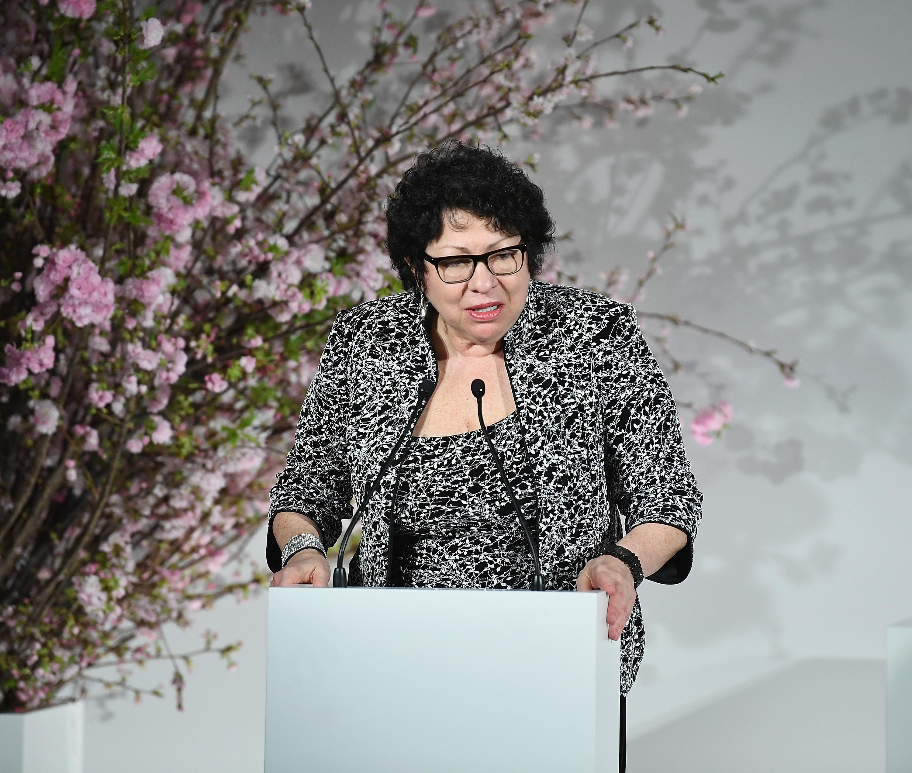 Sotomayor speaking at the UN.