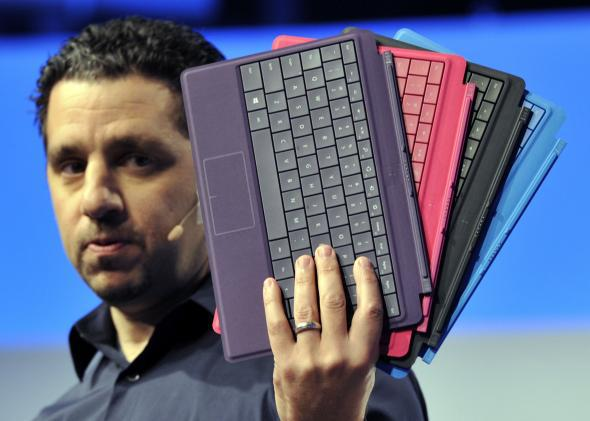 Microsoft VP Panos Panay shows off some Surface accessories