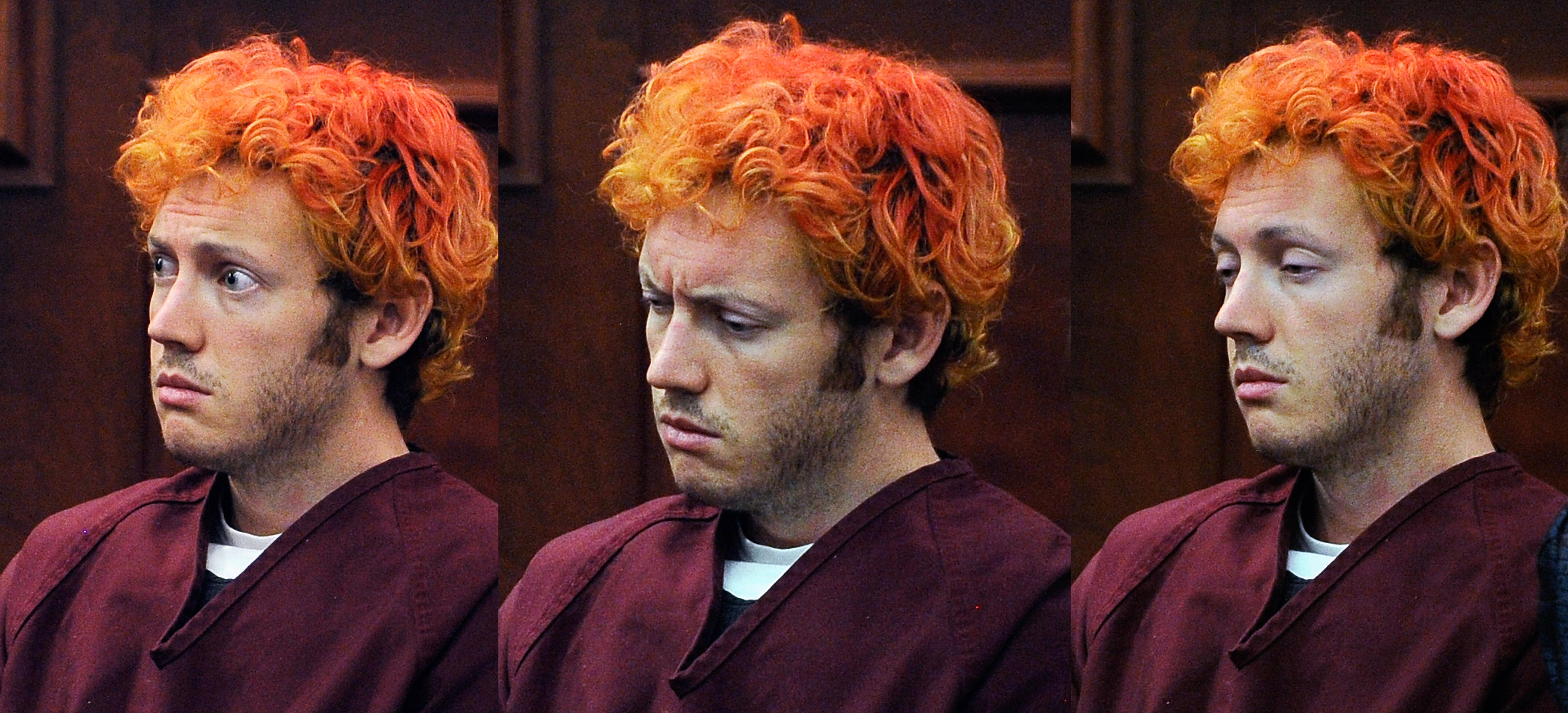 James Holmes makes his first court appearance at the Arapahoe County.