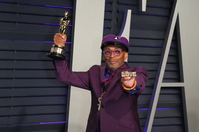 Best Adapted Screenplay winner for 'BlackKklansman' Spike Lee attends the 2019 Vanity Fair Oscar Party following the 91st Academy Awards at The Wallis Annenberg Center for the Performing Arts in Beverly Hills on February 24, 2019. (Photo by JB Lacroix / AFP)        (Photo credit should read JB LACROIX/AFP/Getty Images)