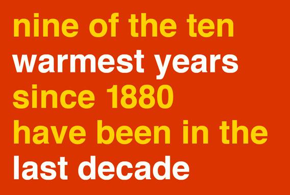9 of the 10 hottest years have been in the past decade