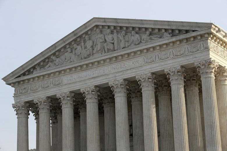 WASHINGTON, DC - DECEMBER 04:  The U.S. Supreme Court is shown on December 4, 2017 in Washington, DC.  The Supreme Court is scheduled to hear the Masterpiece Cakeshop v. Colorado Civil Rights Commission case tomorrow.  (Photo by Win McNamee/Getty Images)