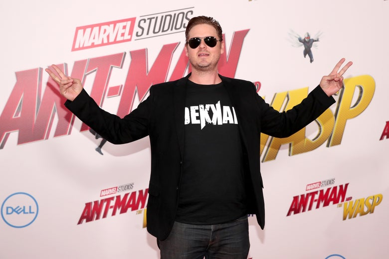 Tim Heidecker at the premiere of Ant Man and the Wasp.