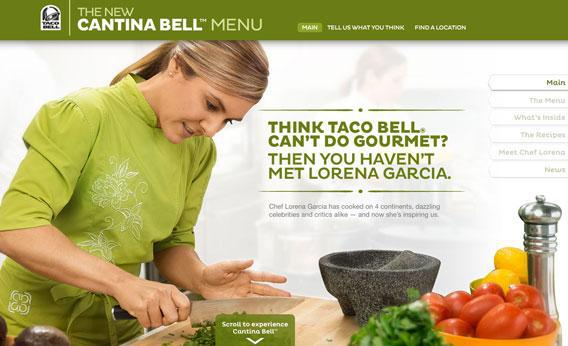 Screenshot of Cantina Bell site.