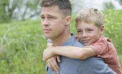 Still of Brad Pitt in The Tree of Life.