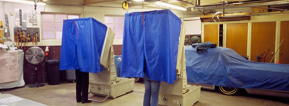 Michael Mergen's Vote covers unique voting locations across America.