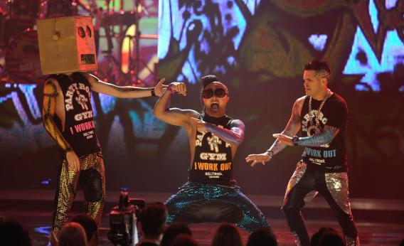 LMFAO performs onstage