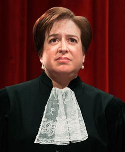 Photo illustration: What Elena Kagan would look like in ruffles. Click image to expand.
