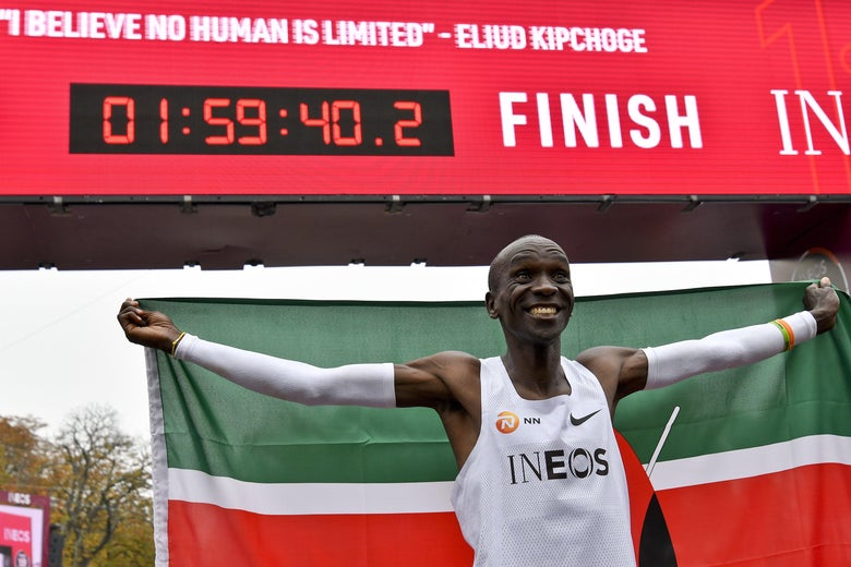 Eliud Kipchoge Makes History by Running First-Ever Marathon in Under Two Hours