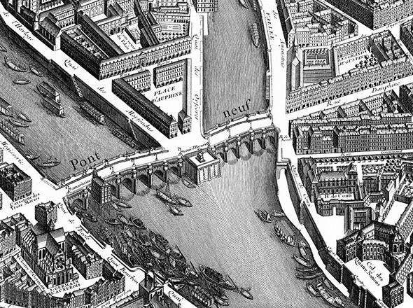 The Pont Neuf was the first bridge to cross the Seine in a single span.