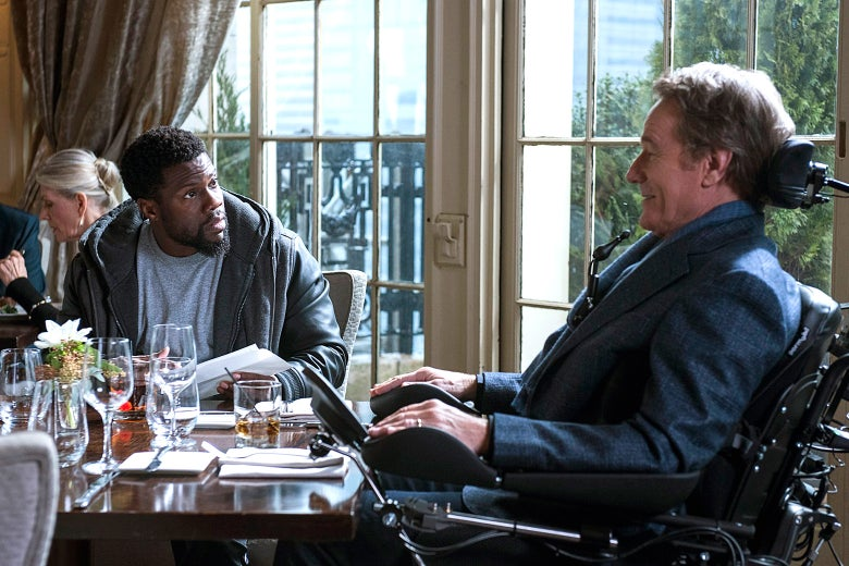 Kevin Hart and Bryan Cranston in The Upside.