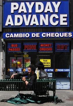 Payday Advance shop in LA.