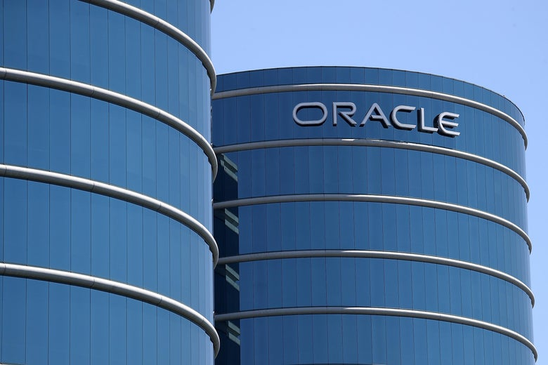 A view of Oracle headquarters in Redwood Shores, California.