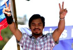 Philippine boxing superstar Manny Pacquiao. Click image to expand.