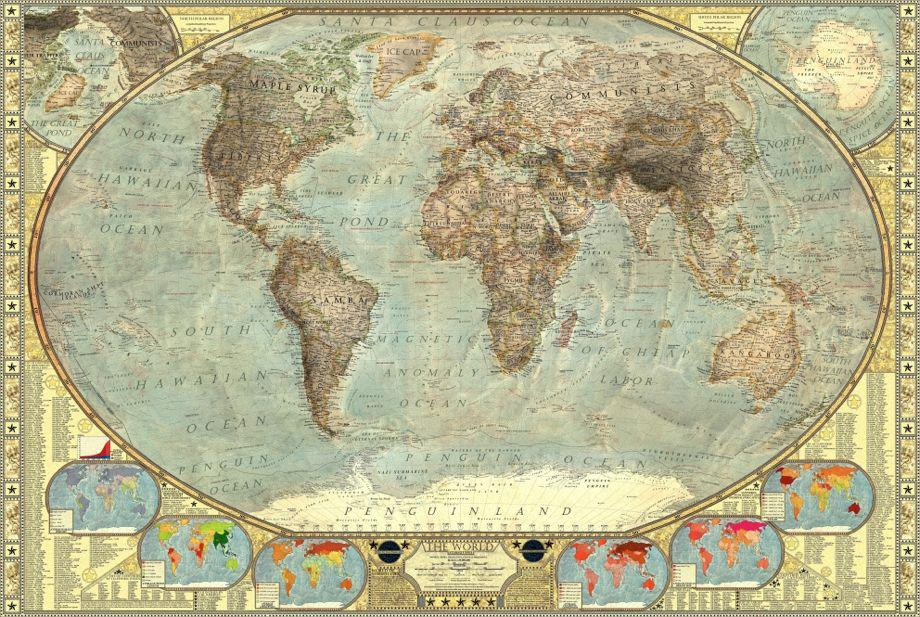 Martin Vargic\'s map of world stereotypes makes no attempt at ...