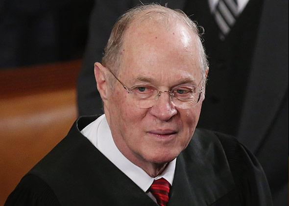 Supreme Court Justice Anthony Kennedy attends President Barack Obama's State of the Union speech at the U.S. Capitol on Feb. 12, 2013.