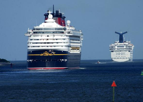 The Disney Wonder and the Carnival Fantasy.