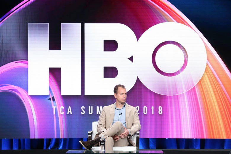 HBO programming president Casey Bloys speaks onstage during the  Summer 2018 TCA Press Tour.