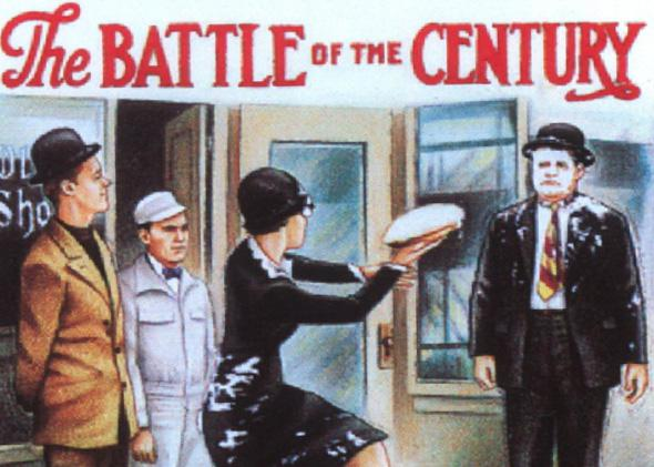 Image from the original 1927 poster for The Battle of the Century.