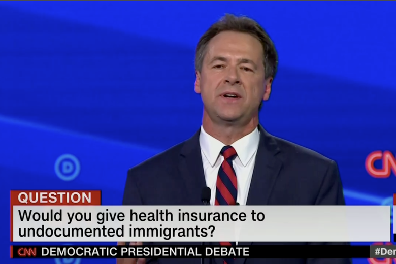 "In this screengrab from CNN, ""Would you give health insurance to undocumented immigrants?"""