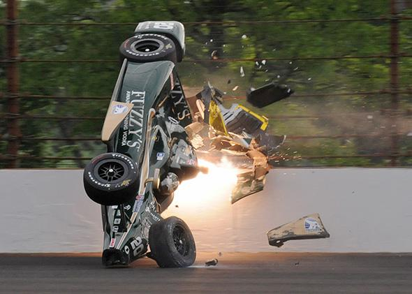 Ed Carpenter crash Indy 500 Auto Racing