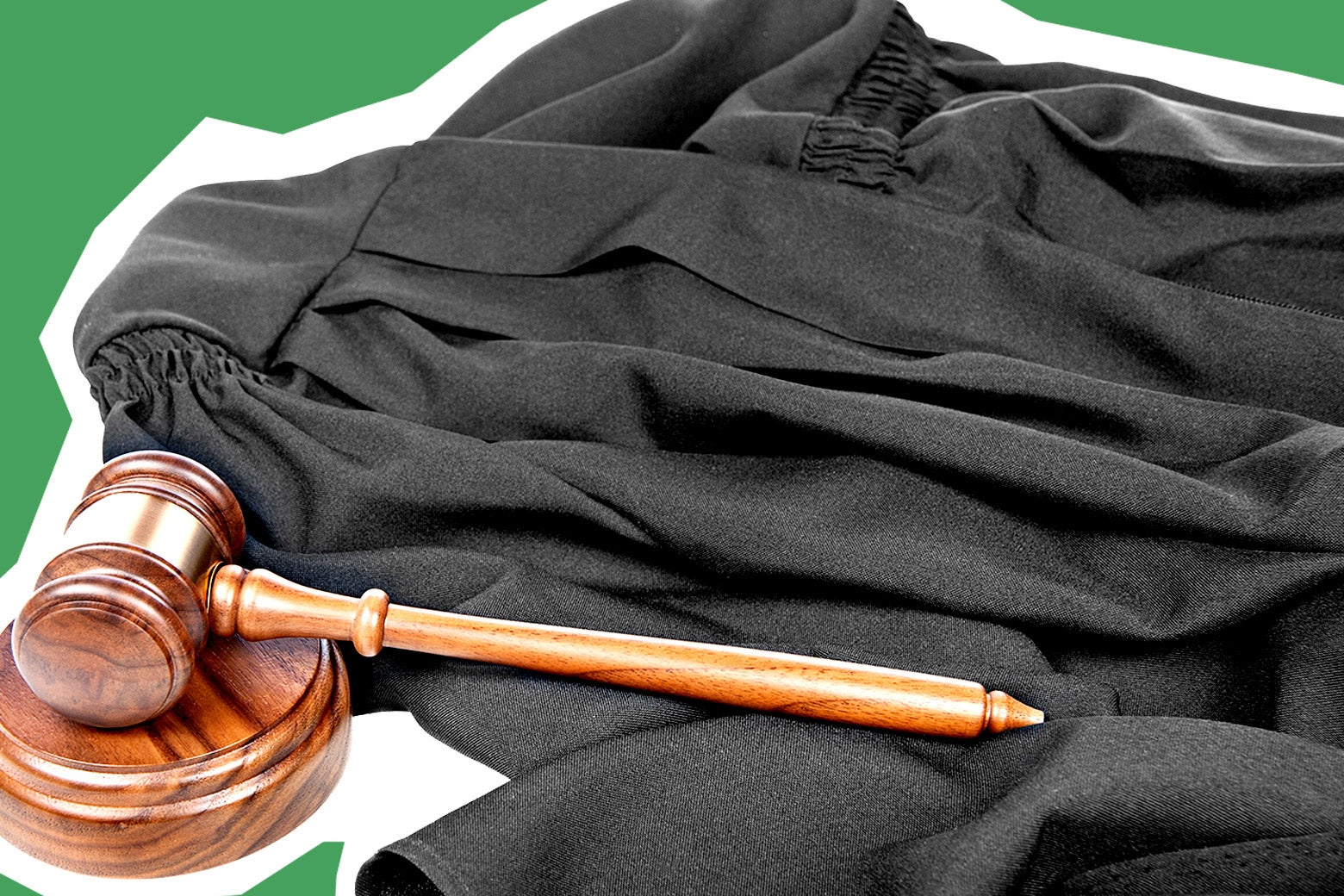 Judge robes and a gavel