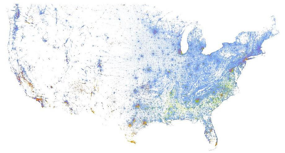 Segregation In America Every Neighborhood In The Us Mapped Along - Clear-us-map