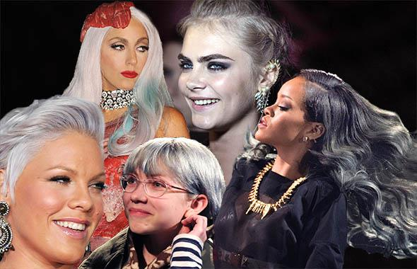 Pink in Nov. 2010, Lady Gaga in Sept. 2010, Cara Delevigne in Ju,Pink in Nov. 2010, Lady Gaga in Sept. 2010, Cara Delevigne in June 2013, Rihanna in July 2013, Tavi Gevinson in Feb. 2010.