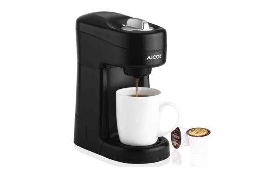 Aicok single-serve coffee maker.