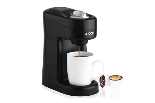 Aicok single-serve coffee maker.