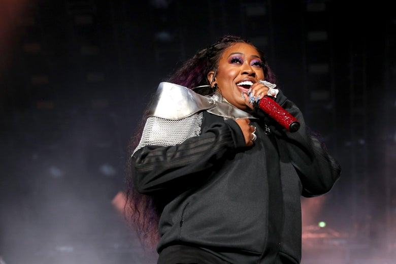 NEW ORLEANS, LOUISIANA - JULY 05: Missy Elliott performs onstage during the 2019 ESSENCE Festival Presented By Coca-Cola performs onstage during the  at Louisiana Superdome on July 05, 2019 in New Orleans, Louisiana. (Photo by Bennett Raglin/Getty Images for ESSENCE)