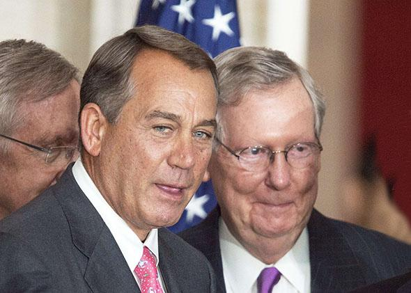 Speaker of the House John Boehner and Republican Senate Leader Mitch McConnell.