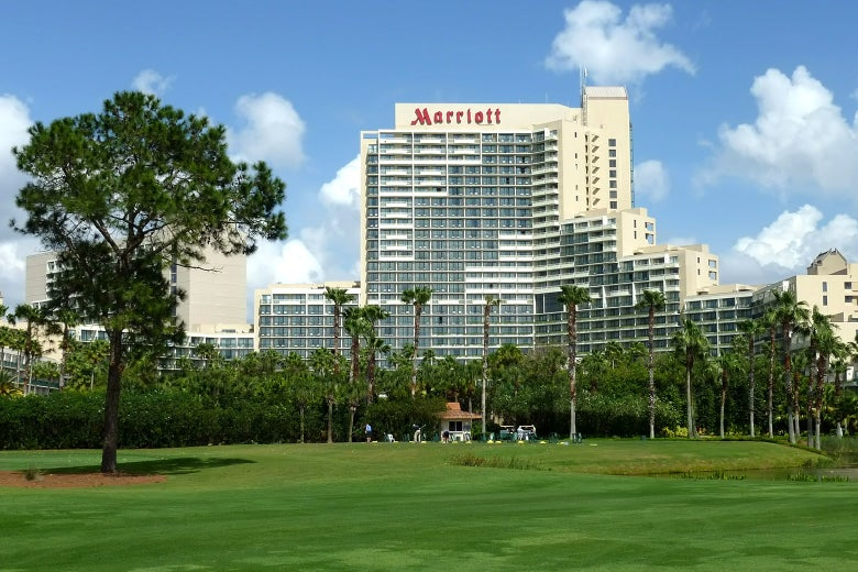 The Orlando World Center Marriott Hotel.