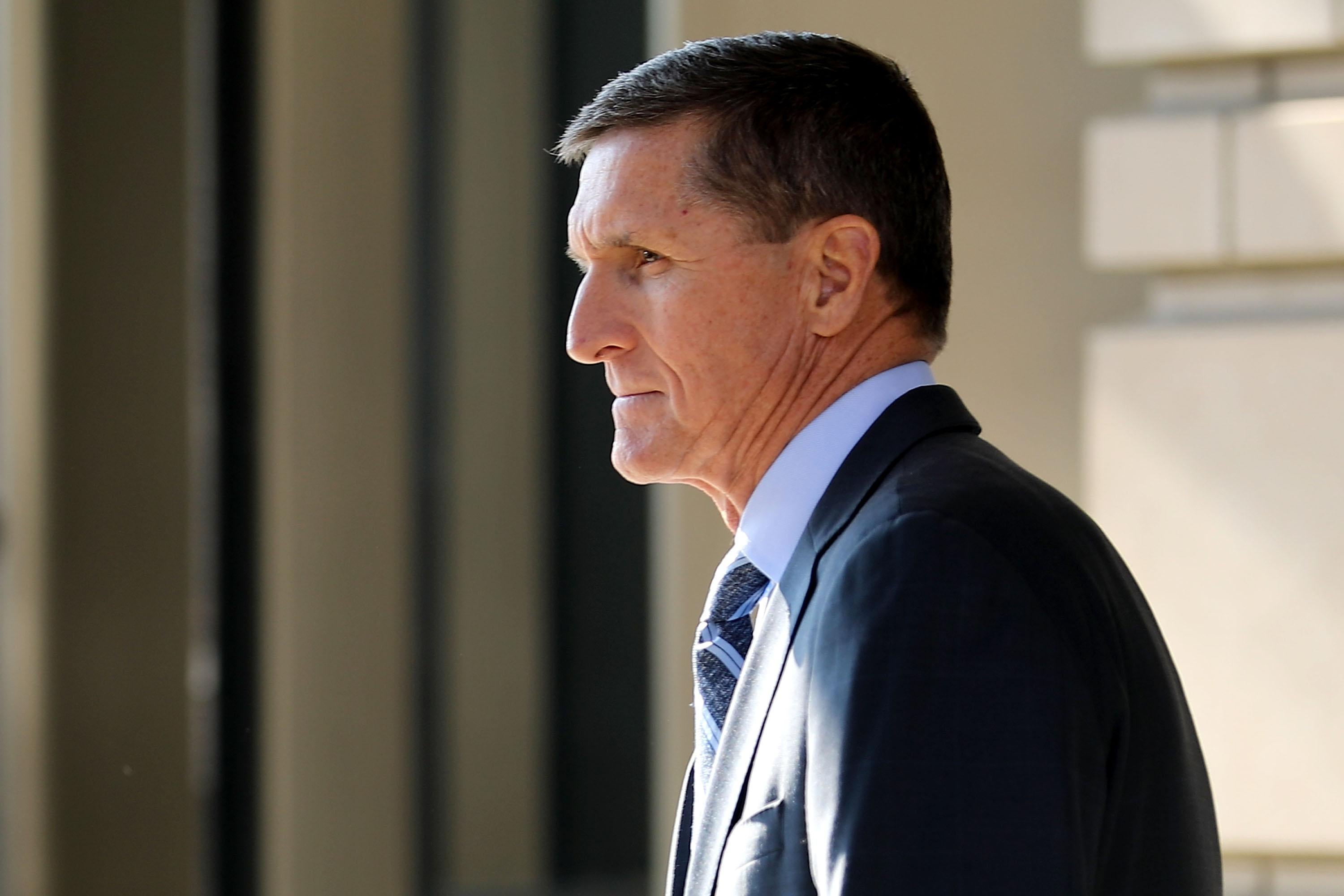 Michael Flynn, viewed in profile.